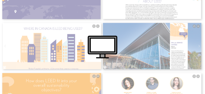Evolving LEED in Motion with Readymag