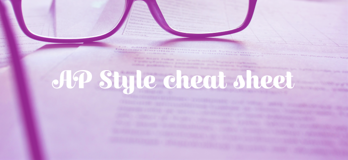 AP Style cheat sheet for content marketers