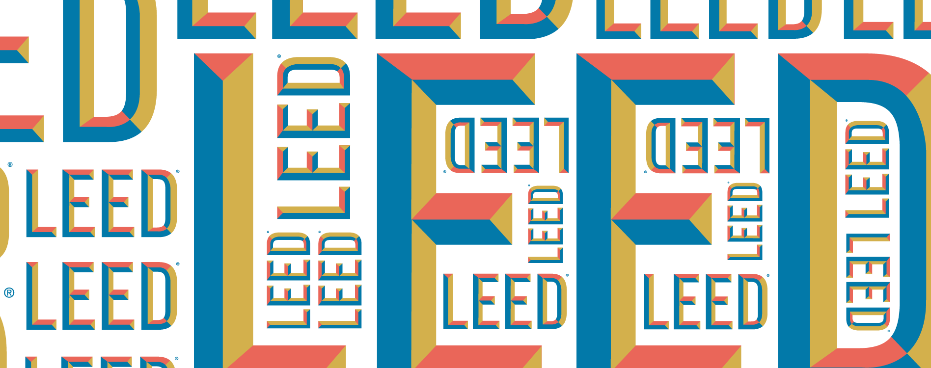 Design case study: Developing our secondary LEED wordmark