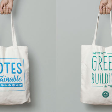 USGBC holiday tote bags