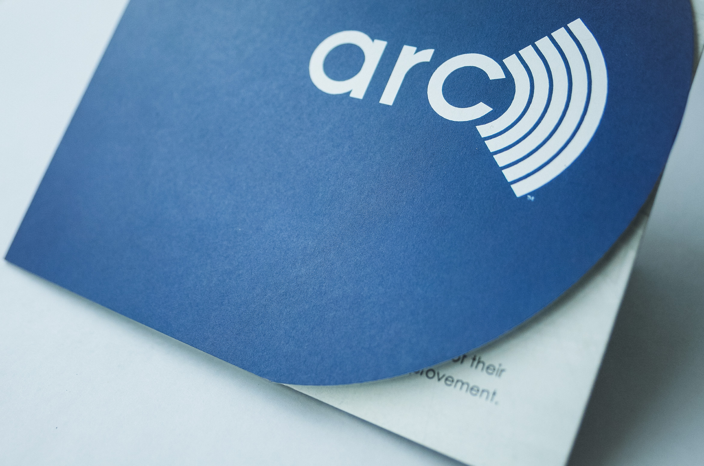 Arc brochure design