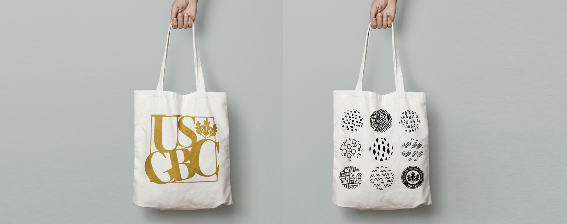 Branded tote bags as a fun holiday party giveaway